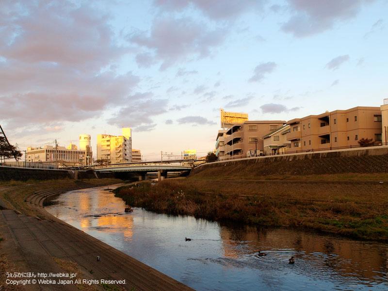 戸塚駅のすぐそばを流れる柏尾川