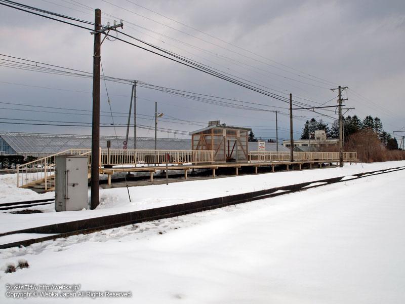 十和田観光電鉄線の大曲駅(おおまがりえき)