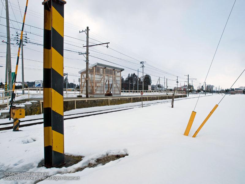 十和田観光電鉄線の柳沢駅(やなぎさわえき)