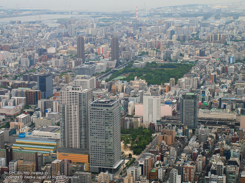 東京スカイツリー展望デッキから見た錦糸町方面