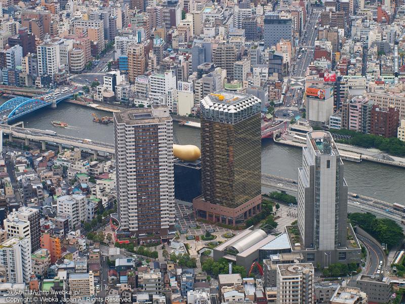 東京スカイツリー展望デッキから見たアサヒビール本社