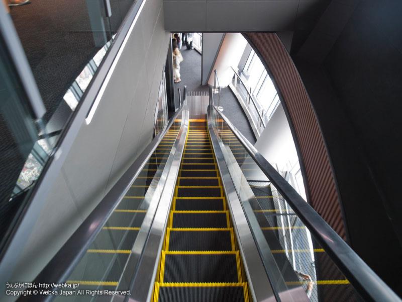 東京スカイツリー展望デッキのエスカレーター