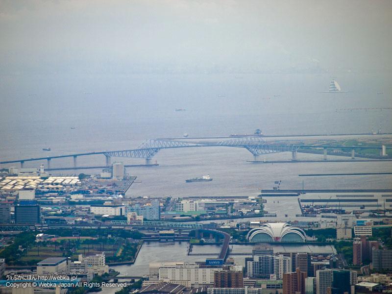 東京スカイツリー展望回廊から見た東京ゲートブリッジ