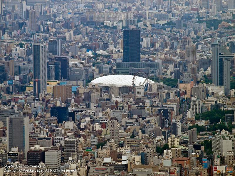東京スカイツリー展望回廊から見た東京ドーム