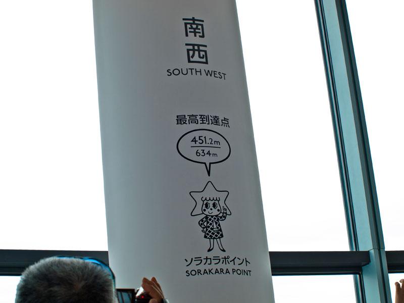 ソラカラポイントの最高到達点451.2m
